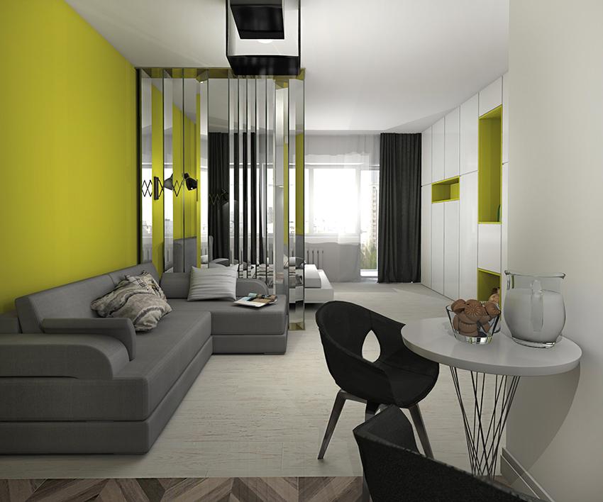 Квартира-студия «Yellow»