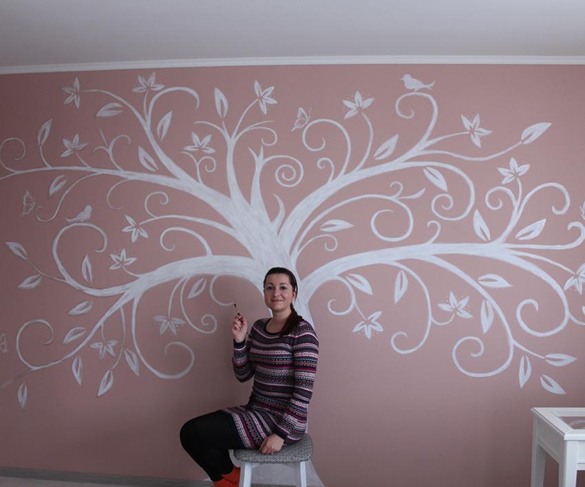 Проект Прованс с авторской росписью стены
