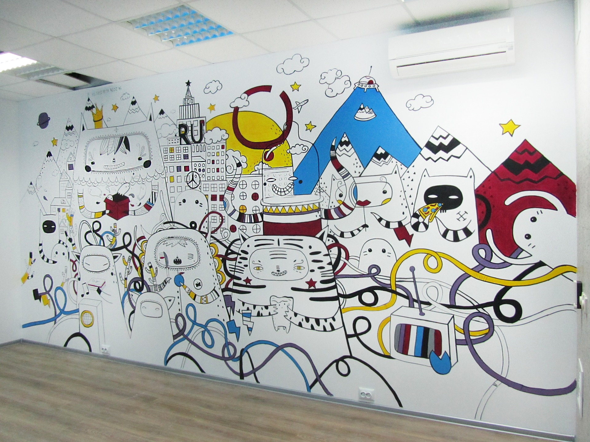 рисунок для офиса на стену метрополь девелопмента